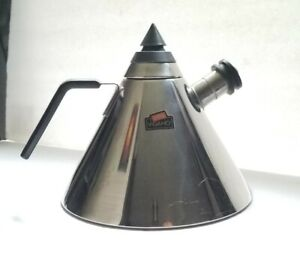 Vintage Vev Vigano Pyramid Triangle Teapot Kettle 18/10 Stainless Italy coffee