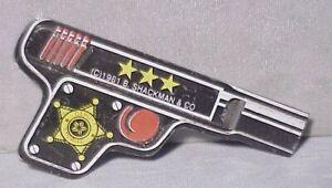 Tin Litho Toy Whistle Clicker GUN