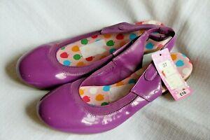 M+S girls purple patent sling back shoes - size 4 (EU 37) - NWT