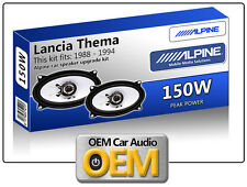 LANCIA THEMA ANTERIORE CRUSCOTTO SPEAKER Alpine altoparlante auto kit 150W