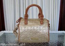 Tommy Hilfiger Mini CV Satchel Metallic Gold Signature Crossbody Bag Purse NWT