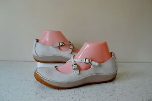 """NEW W.BOX CLARK`S """"HORSE WHISPER"""" WHITE LEATHER ACTIVE AIR COMFORT SHOES UK 6D"""