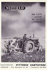 PUBBLICITA' 1954 TRATTORE TRATTRICE NUFFIELD UNIVERSAL VITTORIO CANTATORE ERPICE