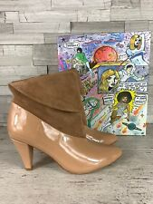 JEFFREY CAMPBELL NIB Rabiosa Patent Leather/Suede Bootie 7.5M $179