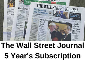 Wall Street Journal Subscription 5 Years All Platforms - Region Free (WSJ)