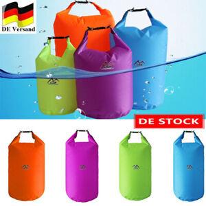 Dry Bag Tasche Seesack Packsack wasserdicht Camping 5L 10L 20L 40L Rollbeutel De