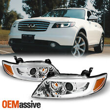 [SWITCHBACK Turn Signal] Fit 2003-2008 FX35 FX45 DRL LED Projector Headlights