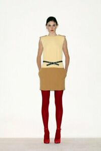 CELINE Opaque Tights Size S Red NEW