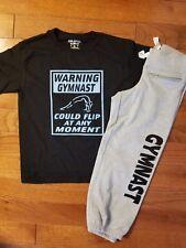 Gymnastics Boxercraft Capris with Gymnast shirt size Youth medium-Adult Medium