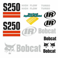 Bobcat S250 Skid Steer Set Vinyl Decal Sticker 17 PC SET + APPLICATOR Made In US