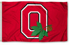 OHIO STATE BUCKEYES LEAF 3' x 5' FLAG/BANNER-$1 SHIPPING-US SELLER