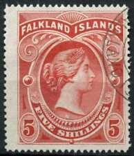 Falkland Islands 1898 SG#42, 5s Red QV Used #E14308