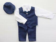 Baby Boy Suit GENTILUOMO Navy Vestito Smart Festa Battesimo