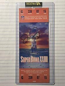 Joe Montana Signed Super Bowl XXIII Ticket Beckett Authenticated Joe Robbie