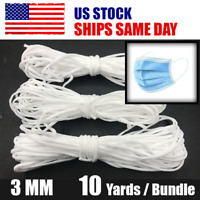 3mm (1/8'') Round Elastic Band Cord Sewing For DIY Face Masks 10 yards