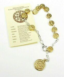 Rosary Bracelet with card Saint Benedict - Protection Genuine Italian