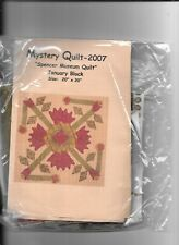 SPENCER MUSEUM QUILT KIT WITH EXACT MATERIAL FROM 2007 MYSTERY QUILT.