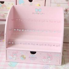 My Melody Pink Desktop Jewelry Storage Box Display Makeup Rack Wooden Girls Gift