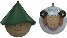 Alessi Pastorello e Pecorello Navidad Bolas En Vidrio Soplado NUEVO Conjunto de 2 M...