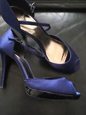 navy Blue Monsoon Peep Toe Shoes Size 6