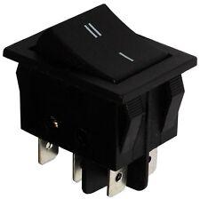 Interrupteur commutateur contacteur bouton à bascule noir DPDT ON-ON 15A/250V