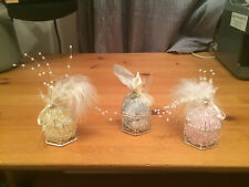 Wedding Favours favors mini Bird Cages Silver