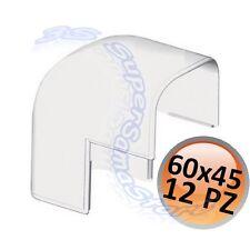 3S PEZZI 12 ANGOLO ESTERNO PER CANALINA 60x45 mm CLIMATIZZATORE CONDIZIONATORE