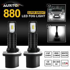 2X AUXITO 880 899 Super White 6000K CSP LED Fog Light Car Driving DRL Bulbs Lamp