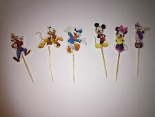 12 x Mickey Mouse CUPCAKE TOPPER Party Supplies Lolly Loot Bag Minnie Mouse