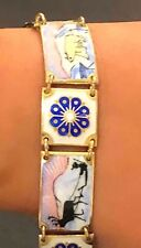 David-Anderson 925S Guilloche Enamel Scandinavian 'Scenic Bracelet'