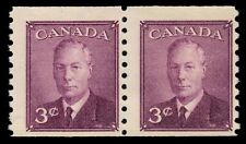 """CANADA 296 - King George VI """"Postes-Postage"""" Coil Pair (pf89173)"""