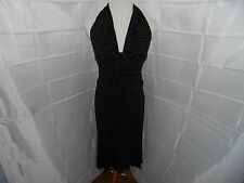 Lillie Rubin Black and White Polka Dot 1950s Style Rockabilly Pinup Dress Medium
