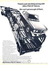 1970 1969 Alfa Romeo 1750 GT Veloce Original Advertisement Print Art Car Ad J211