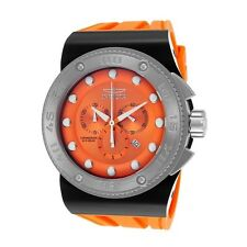 NEW Mens Invicta 12290 Akula Swiss Chronograph Orange Dial Orange Strap Watch