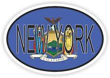 OVAL New York STATE WITH FLAG USA STICKER AUTO MOTO TRUCK LAPTOP BIKE CAR