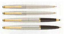 Parker 45 Flighter & Gold Fountain Pen Ballpoint Pencil Rollerball Set New In Bx