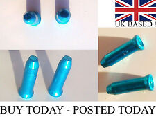 10 25 50 Anodised Alloy Mtb/ Road Cycle Gear Bike Brake Inner Cable Ends Crimps Blue 100