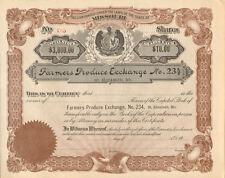 Farmers Produce Exchange > St. Elizabeth MO Missouri stock certificate share