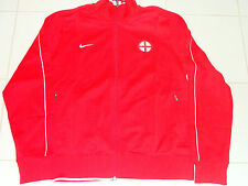 UEFA 2012 Euro Cup N98 Track Top Jacket L England Red Full Zip Soccer