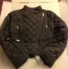 Burberry Children Girls Quilted Brand New Pewter Jacket Coat NWT Sz 8Y
