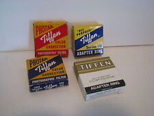 vintage  Tiffen adapter ringS,  filters LOT OF  4