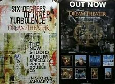 Dream Theater 2001 6 degrees/NYC 2 sided promotional poster Mint Condition
