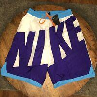 Nike Basketball Shorts Woven Dri-FIT Throwback White AT3165-100 Mens Sz XL Tall