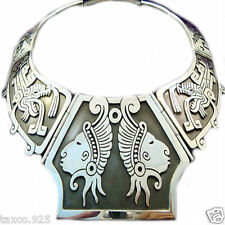 Silver Native Tribal Necklace Mexico Vintage Design Taxco Mexican 950 Sterling