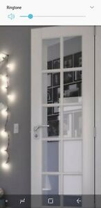 NEW EightDoors 24''x80'' White Clear Glass Prefinished Pine Wood Interior French