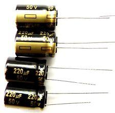 220uf 50v 105c Basso Esr Panasonic EEUFM Taglia 16mmx10mm 1h221 x4pcs