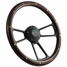 1995-2002 GMC Full Size Trucks Steering Wheel Kit Mahogany Wood & Black Billet!