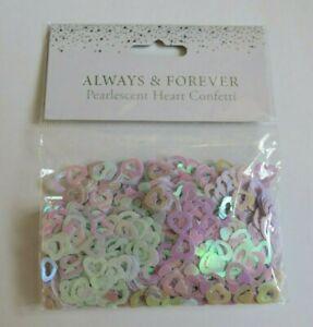 500 x Pearlescent Heart Wedding Confetti