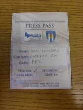 21/08/2012 Ticket: Colchester United v Portsmouth [Press Pass] . Thanks for view