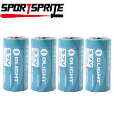4pcs Olight 16340 RCR123A 3.7V 650mAh Wiederaufladbare Li-Ionen Batterien Zellen